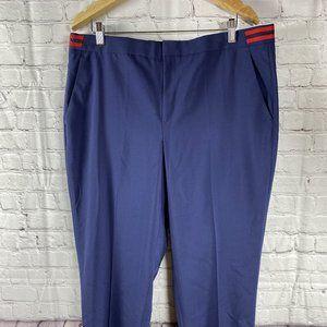 Banana Republic Avery Striped Navy Red Pants New
